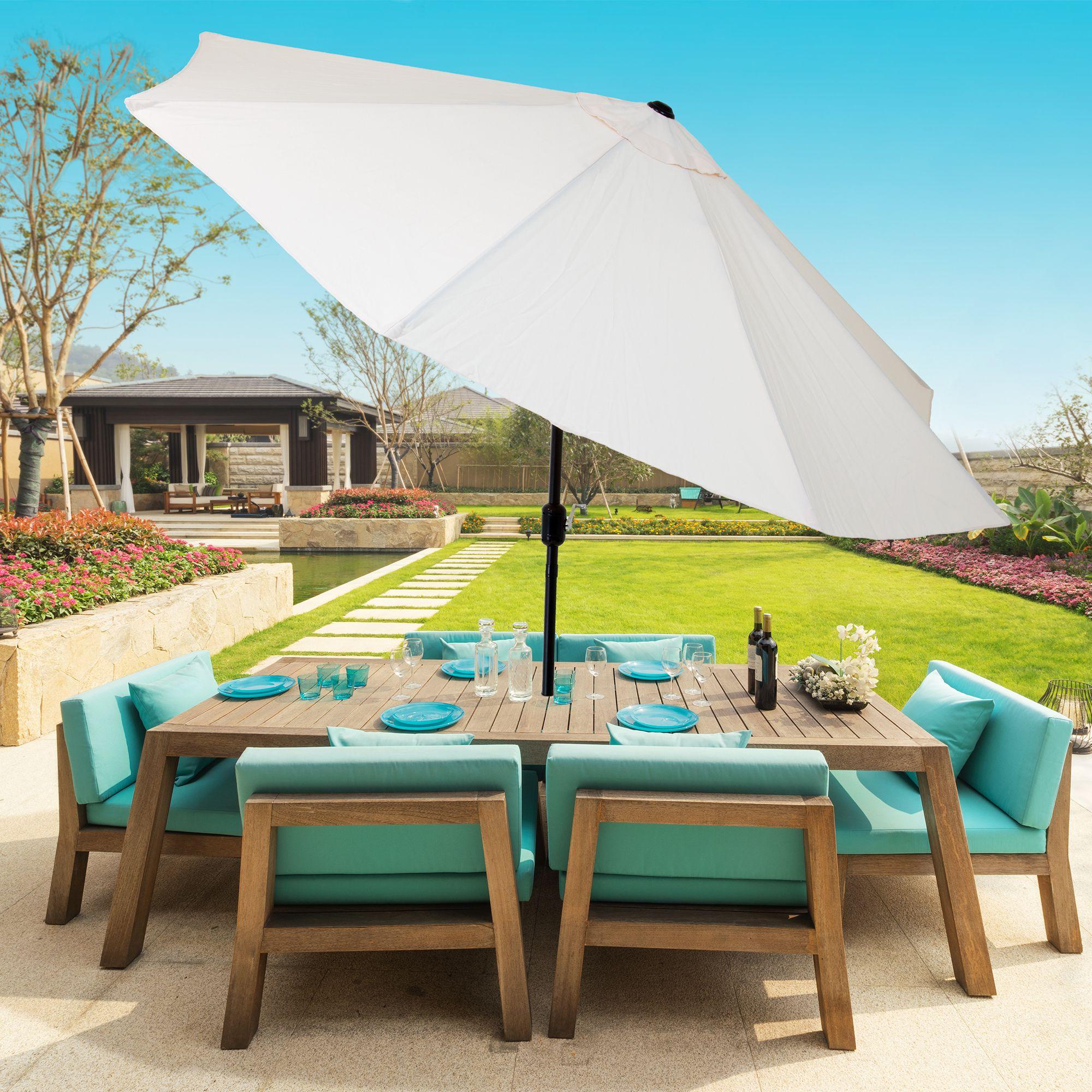 Pure Garden 10 Foot Aluminum Patio Umbrella With Auto Tilt (View 12 of 20)