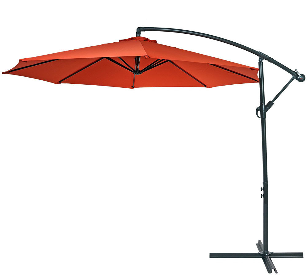 Raymundo 10.5' Cantilever Umbrella With Best And Newest Trotman Cantilever Umbrellas (Gallery 19 of 20)