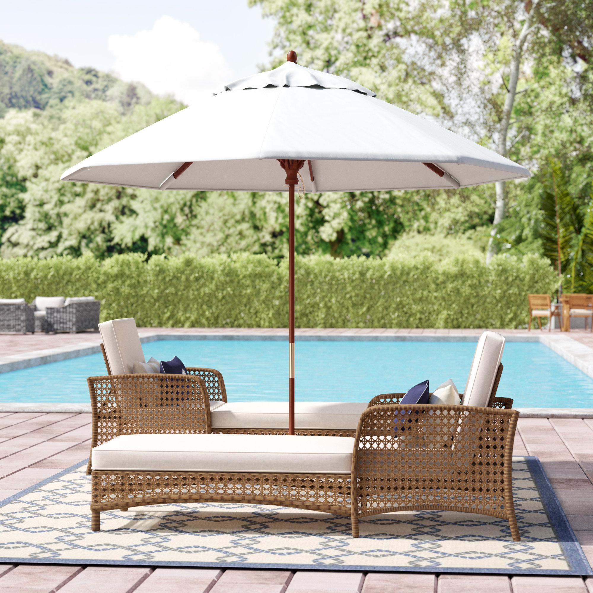 Recent Beachcrest Home Mraz 9' Market Umbrella & Reviews (View 16 of 20)