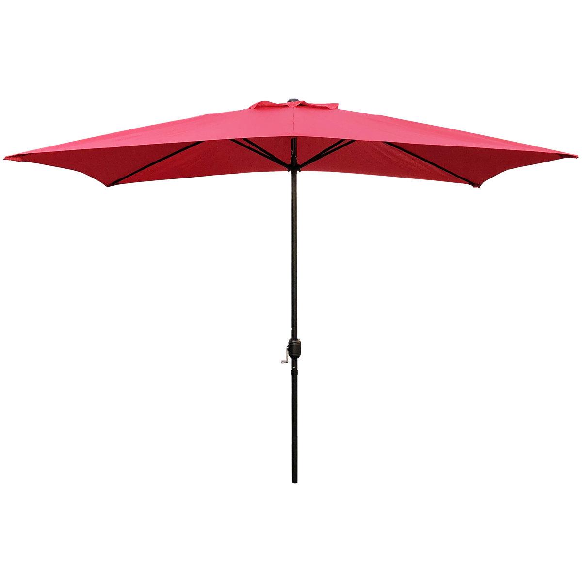 Recent Bradford 10' X 6.5' Rectangular Market Umbrella In Jendayi Square Cantilever Umbrellas (Gallery 13 of 20)