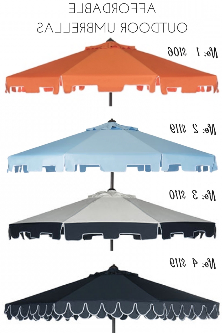 Recent Budget Friendly Outdoor Umbrella (View 15 of 20)