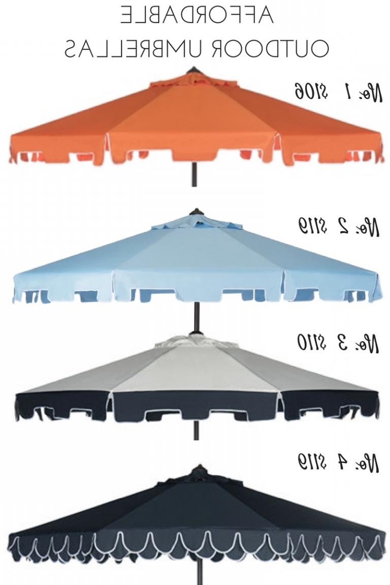 Recent Budget Friendly Outdoor Umbrella (View 16 of 20)