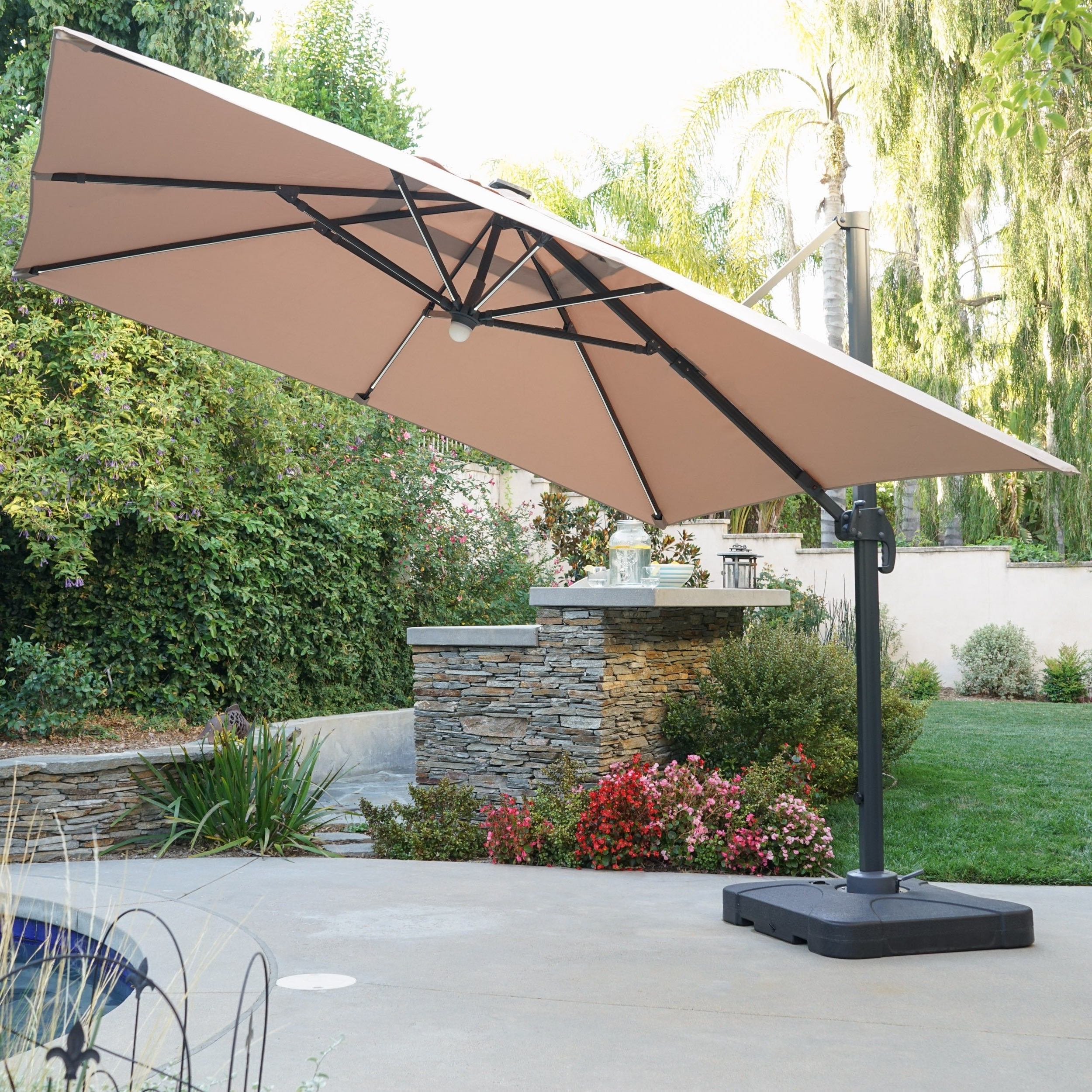 Recent Buy Cantilever Offset Patio Umbrellas Online At Overstock (View 4 of 20)