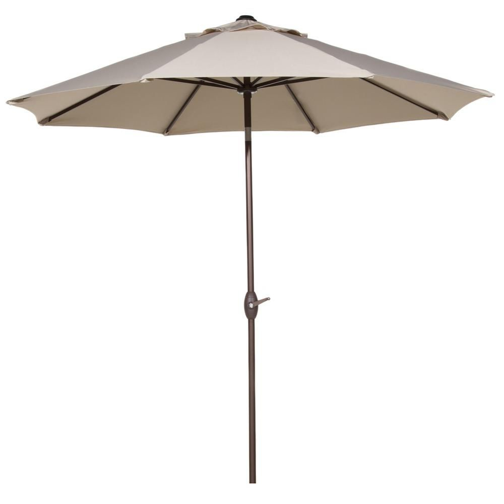 Recent Irven Cantilever Umbrellas In Abba Patio 9 Ft. Outdoor Table Market Umbrella With Push Button Tilt (Gallery 9 of 20)