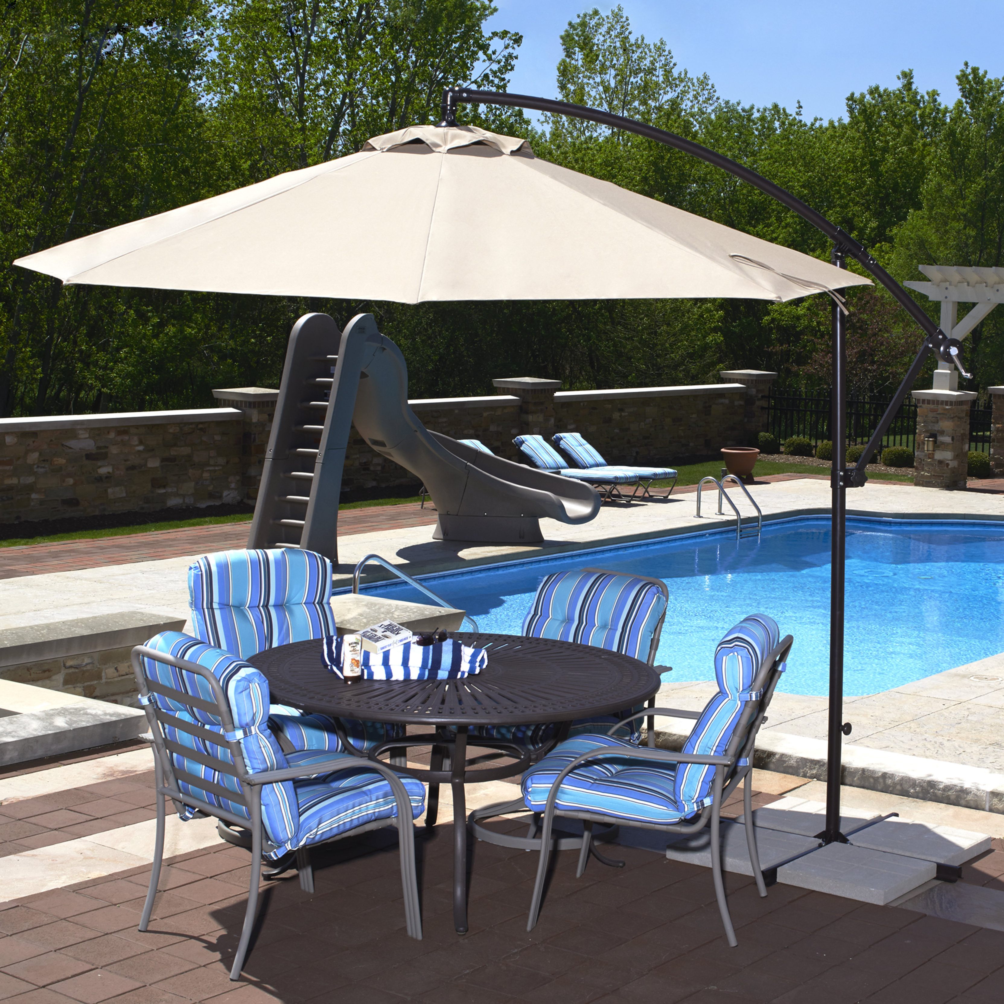 Recent Kizzie Market Cantilever Umbrellas Pertaining To Ketcham 10' Cantilever Umbrella (View 5 of 20)
