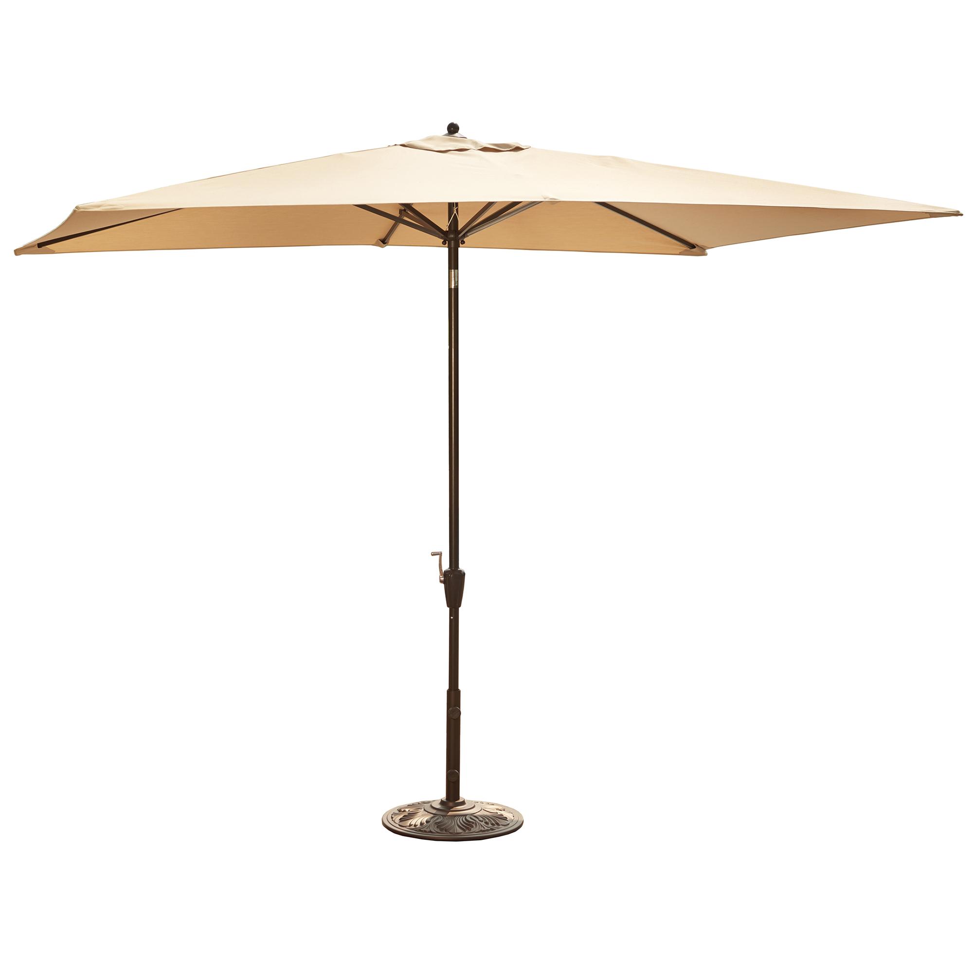 Recent Market Umbrellas Regarding Island Umbrella Adriatic 6.5 Ft X 10 Ft Rectangular Market Umbrella In  Beige Sunbrella Acrylic (Gallery 15 of 20)