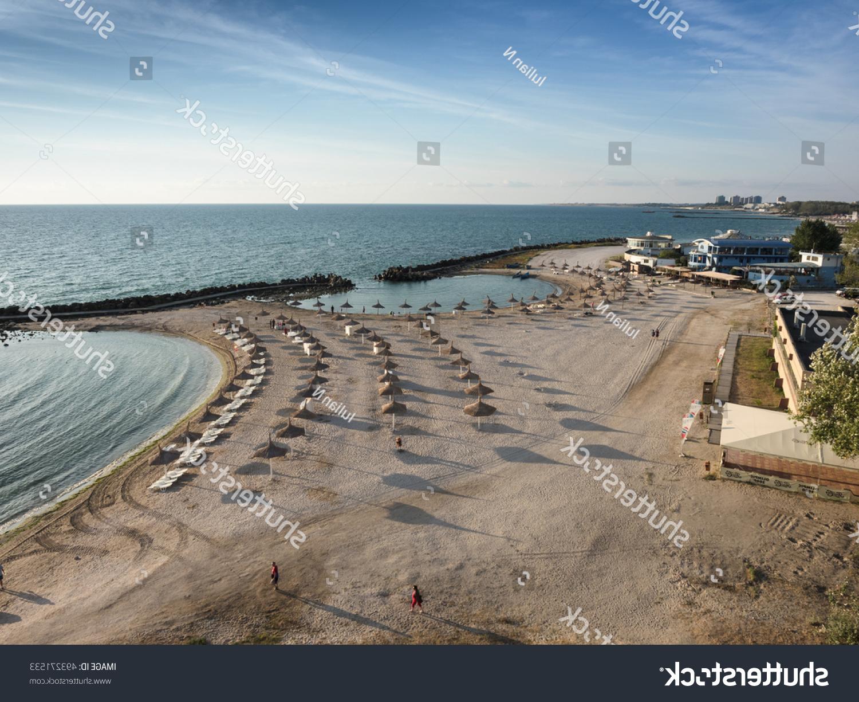 Recent Straw Umbrellas On Black Sea Beach Stock Photo (Edit Now) 493271533 Regarding Julian Beach Umbrellas (Gallery 13 of 20)