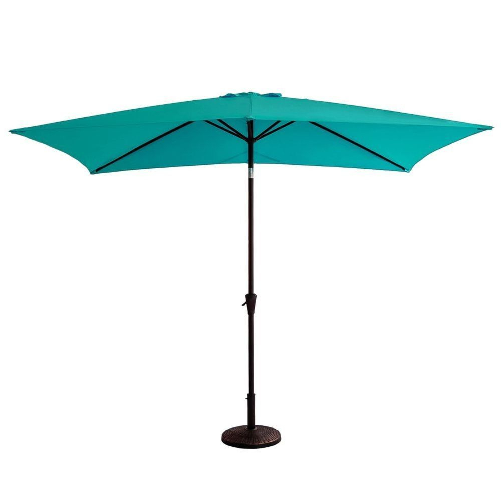 "Rectangle Patio Outdoor Market Umbrella 6'6"" X 10' With Crank Winder Within Preferred Eisele Rectangular Market Umbrellas (View 10 of 20)"