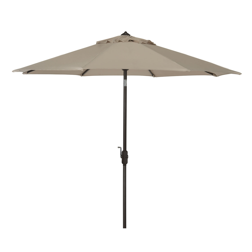 Safavieh Ortega 9 Ft Market Umbrella With Auto Tilt Pertaining To Current Market Umbrellas (View 19 of 20)