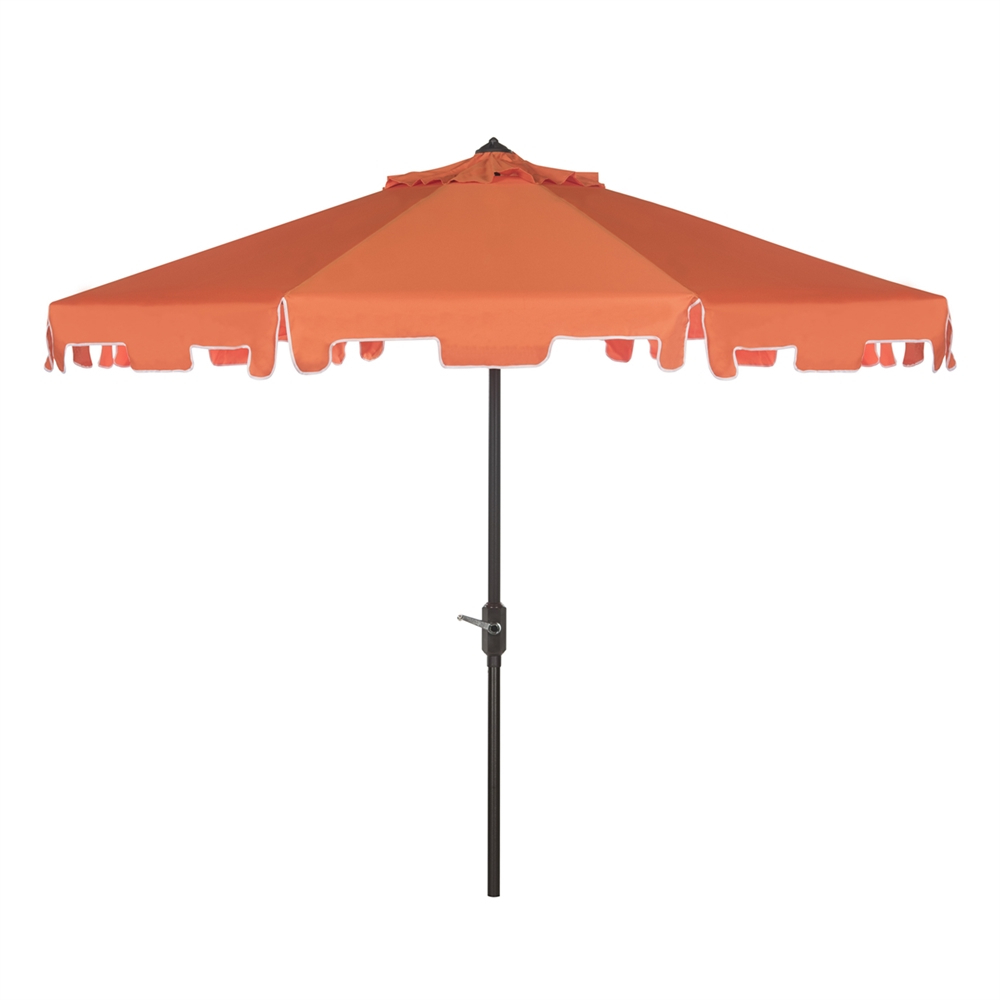 Safavieh Zimmerman 9 Ft Drape Umbrella With Crank And Tilt For Well Liked Drape Umbrellas (View 16 of 20)