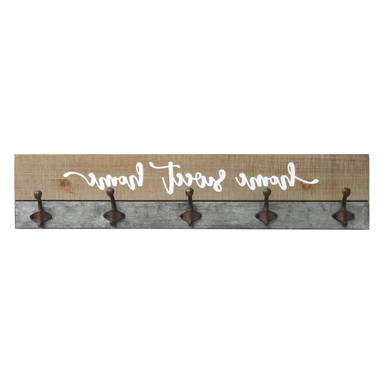 Sansone Home Sweet Home Wall Mounted Coat Rack Regarding Most Up To Date Fordbridge Rectangular Market Umbrellas (View 19 of 20)