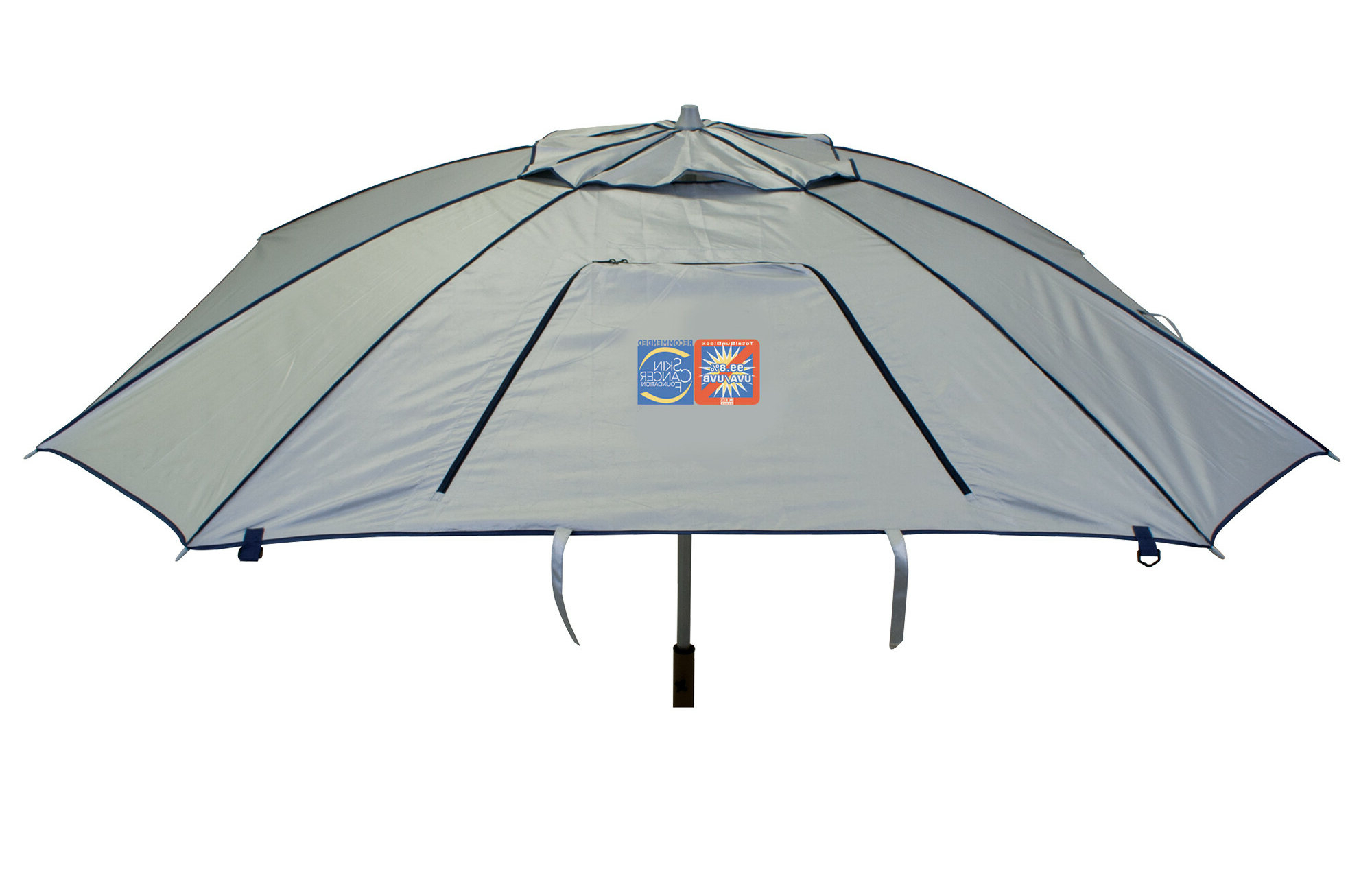 Schroeder Heavy Duty Beach Umbrellas Regarding Most Popular Total Sun Block Extreme Shade 8 Ft (View 17 of 20)