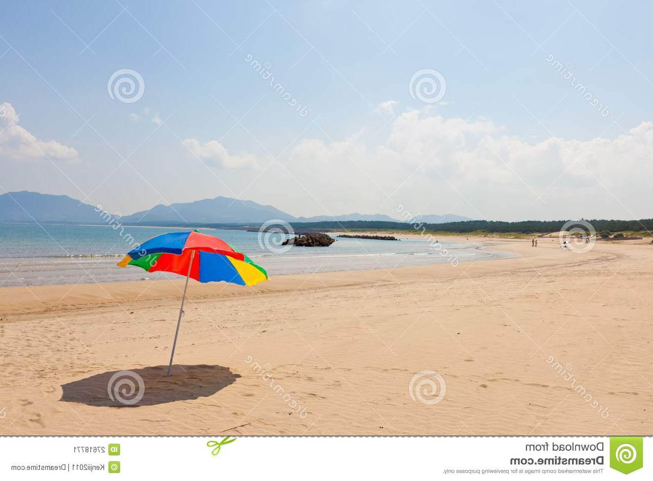 Seaside Beach Umbrella Stock Image (View 9 of 20)