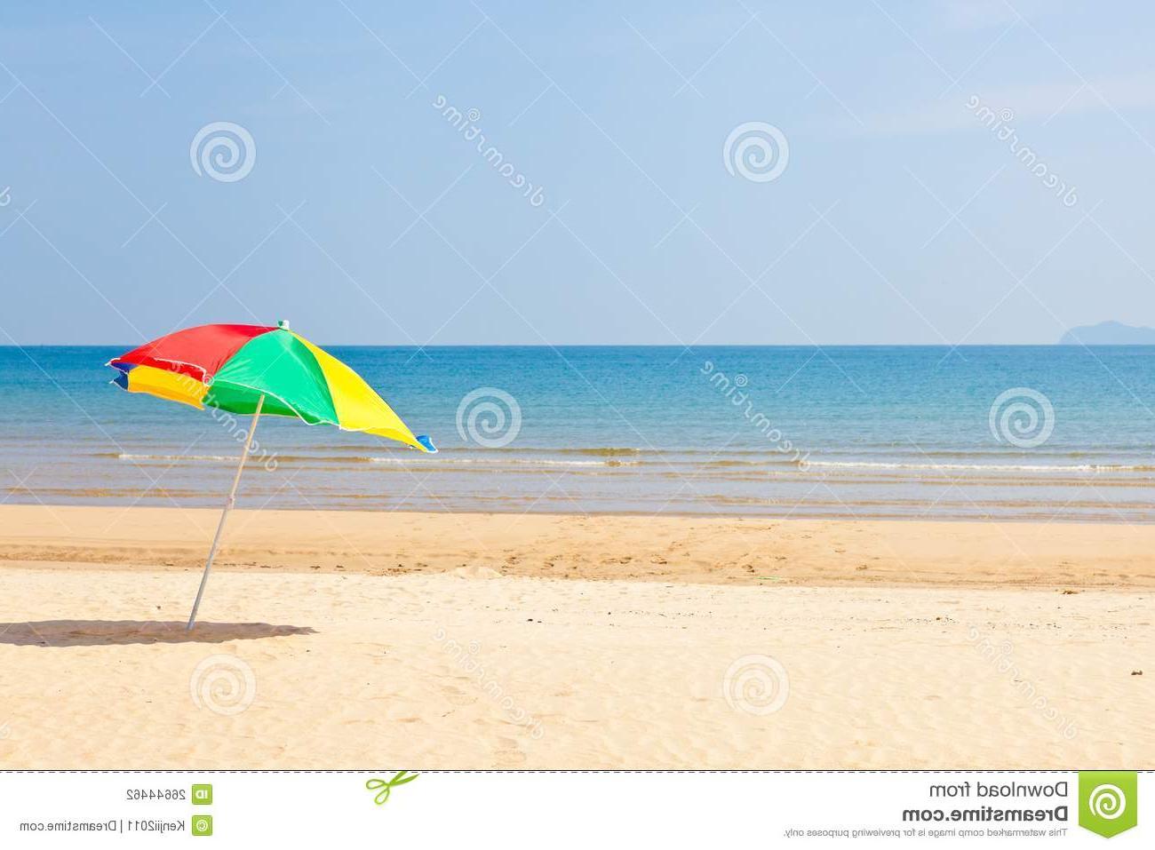 Seaside Beach Umbrellas Throughout 2019 Seaside Beach Umbrella Stock Photo (View 14 of 20)