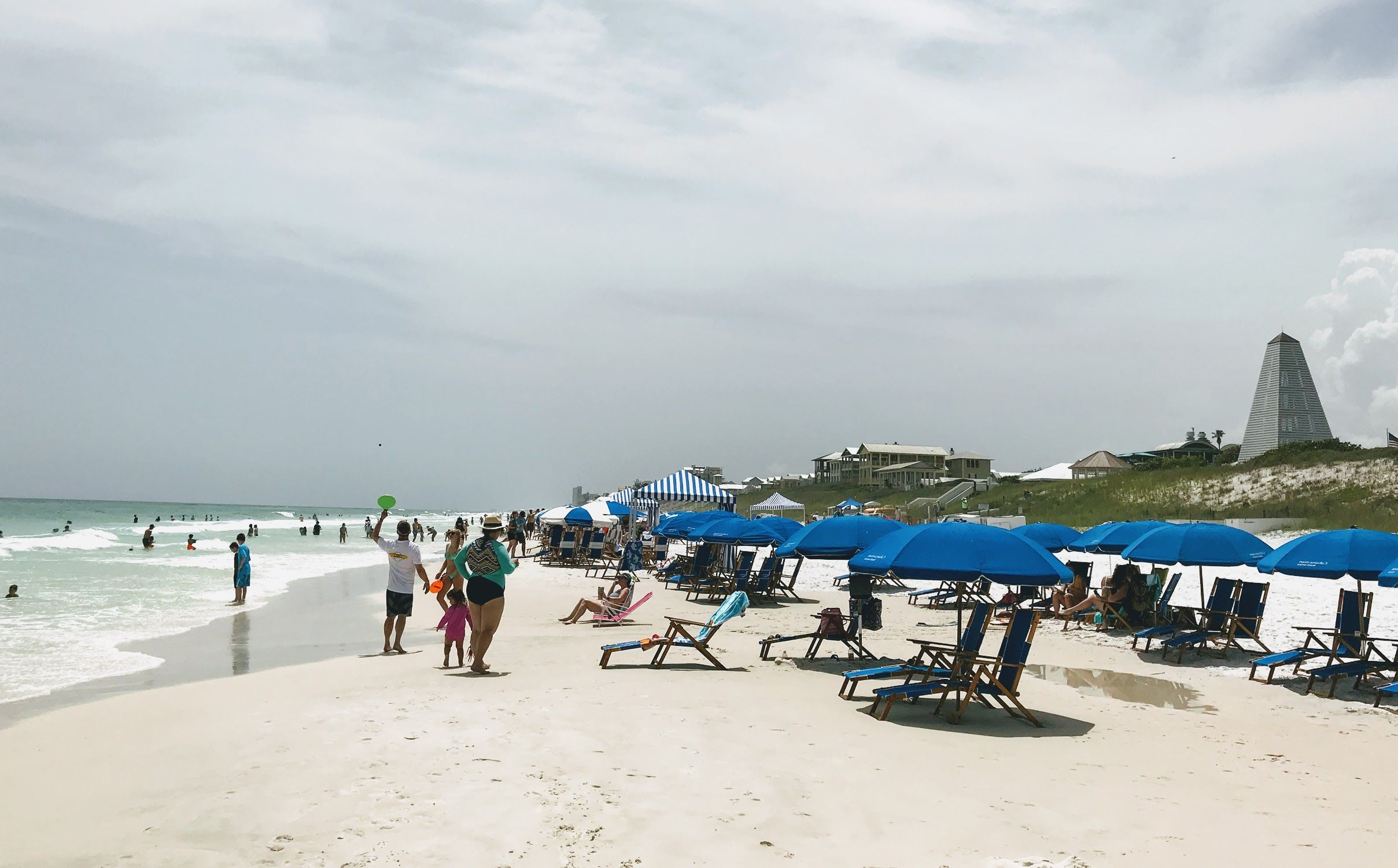 Seaside Florida Beaches Are Lined With Rental Beach Umbrellas With Newest Seaside Beach Umbrellas (View 18 of 20)