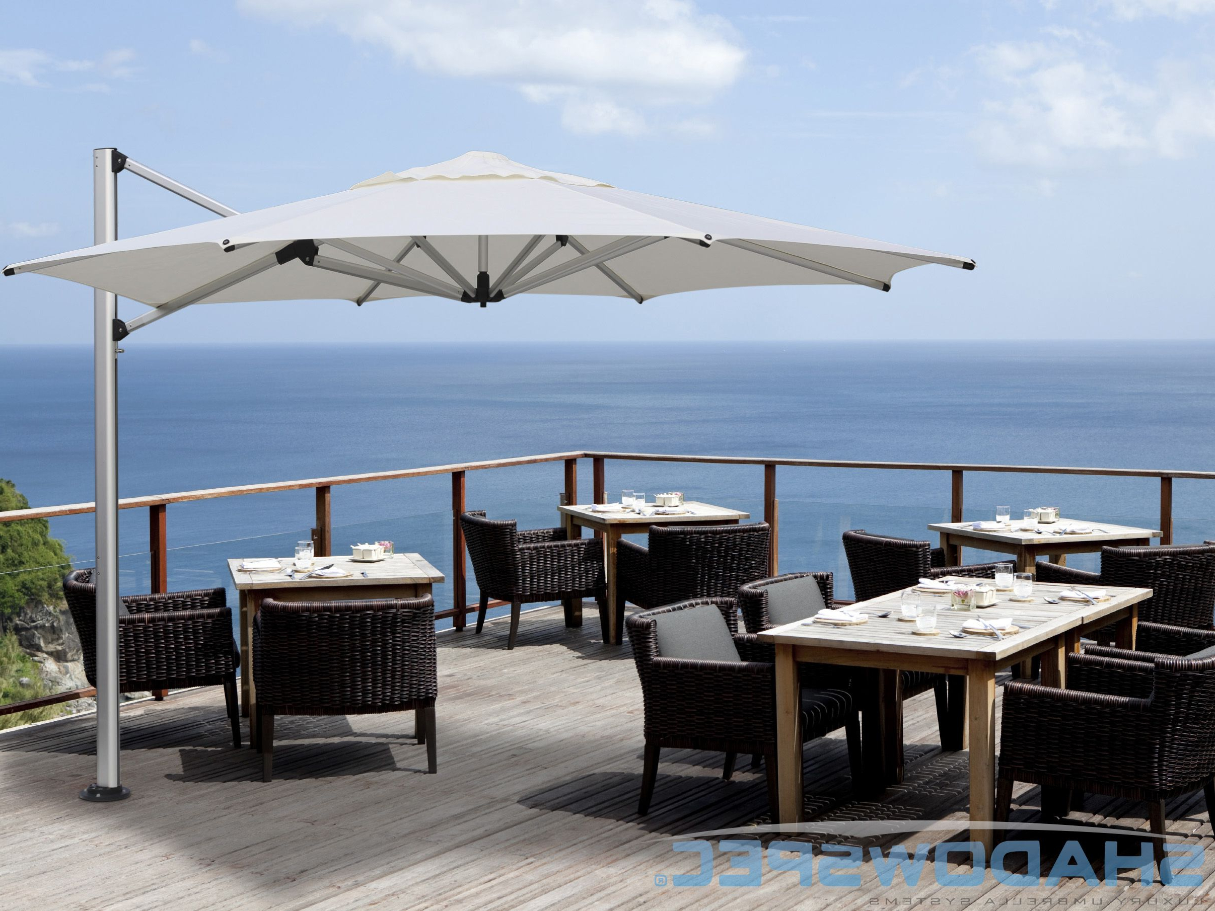 Shadowspec – Global Suppliers Of Luxury Outdoor Umbrella Systems With Regard To Famous Alyssa Cantilever Umbrellas (View 17 of 20)