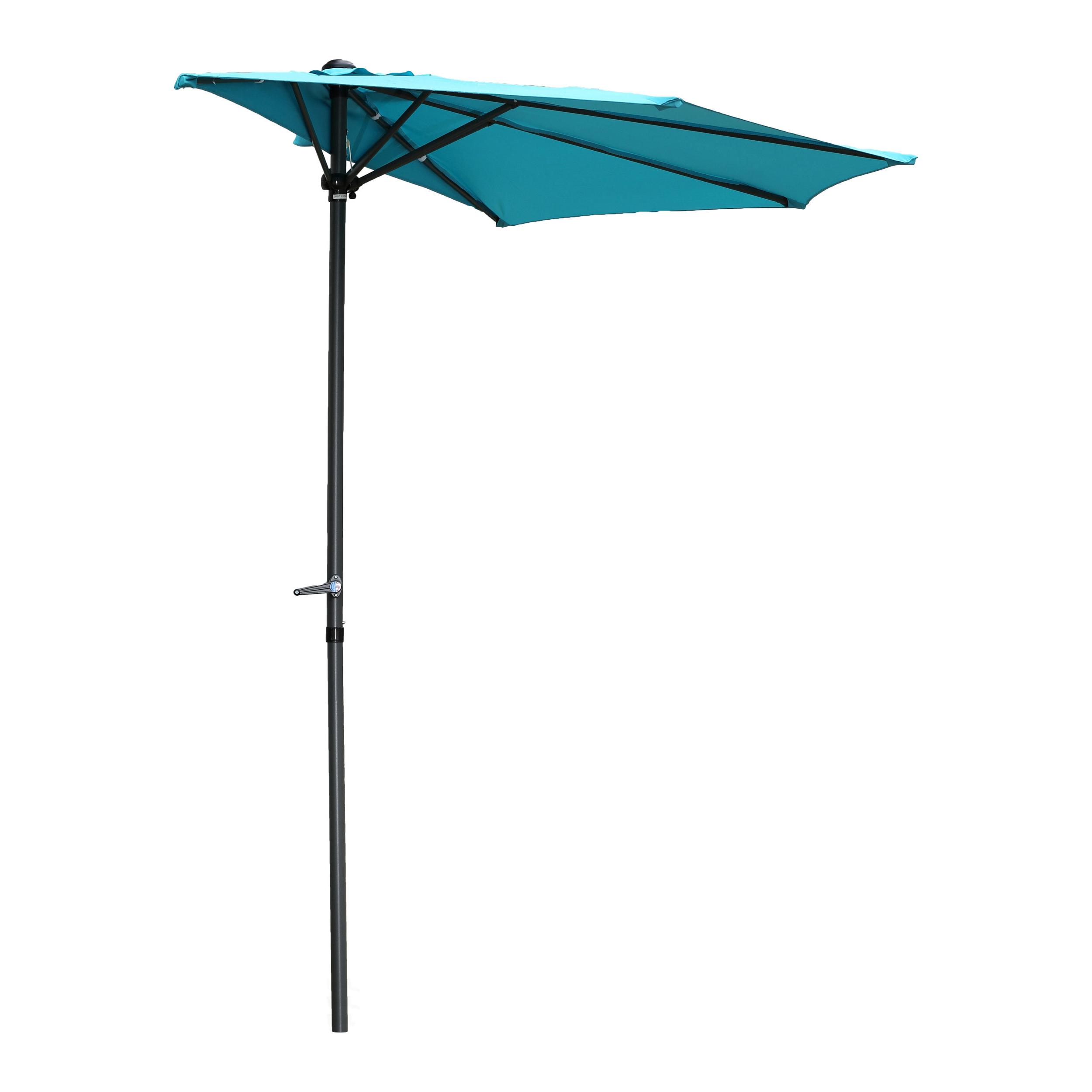 Sheehan Market Umbrellas With Regard To Preferred Dade City North 9' Half Market Umbrella (View 16 of 20)
