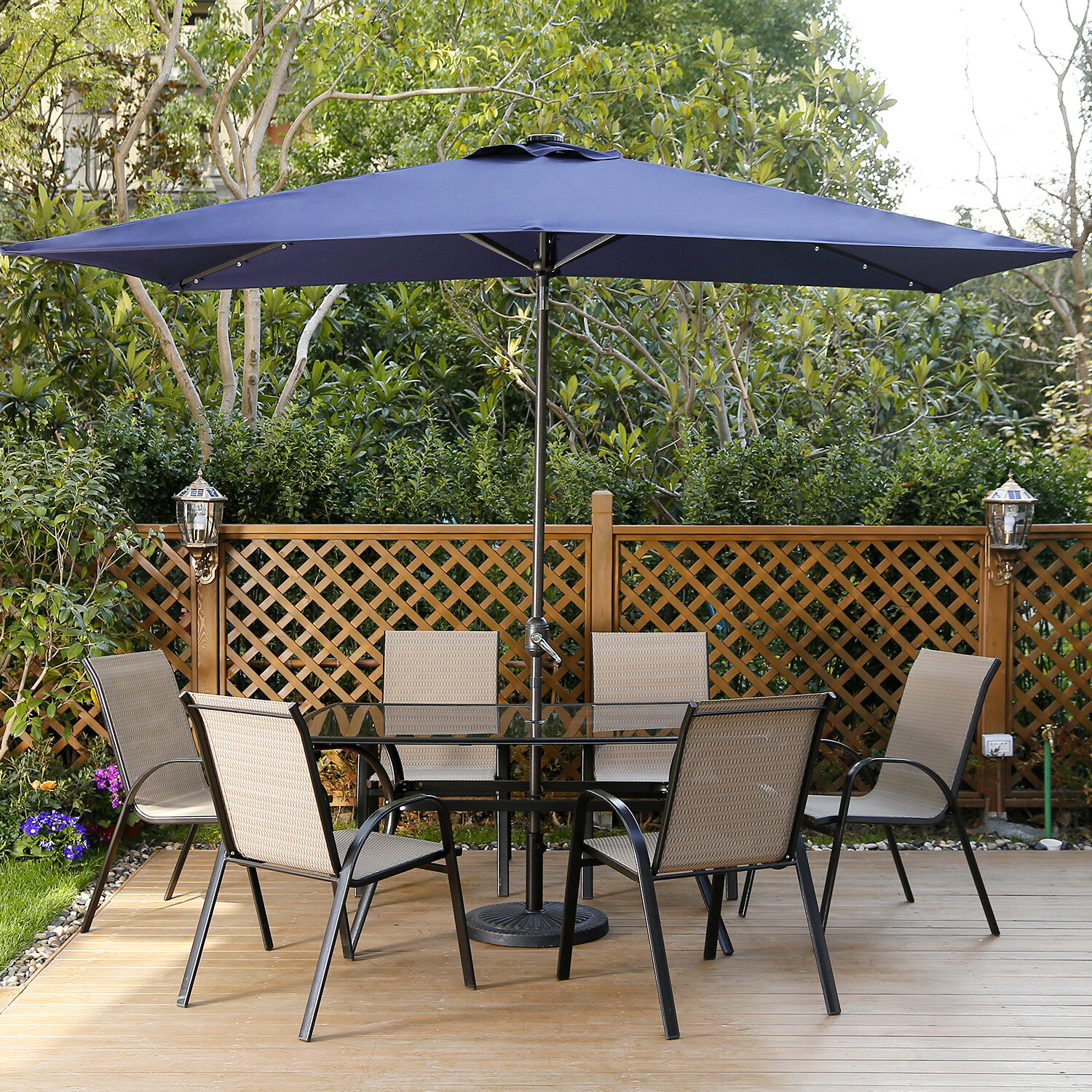 Sherlyn Rectangular Market Umbrellas Regarding Well Known Freeport Park Harworth 10' X  (View 9 of 20)