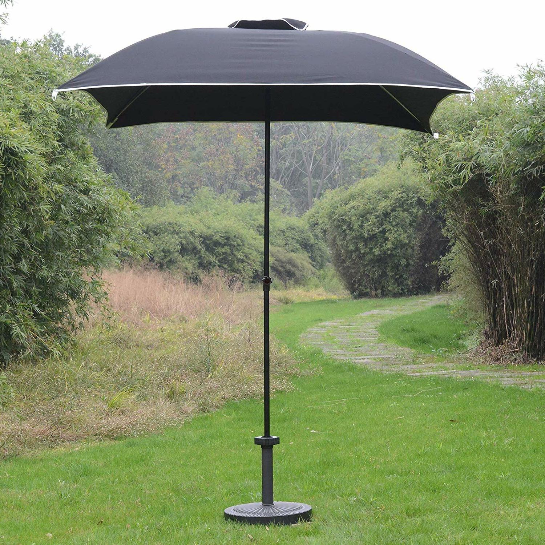 Shropshire Market Umbrellas With Regard To Popular Hunstant Compact Portable Sun Shade Folding Beach 6' Square Market Umbrella (View 15 of 20)