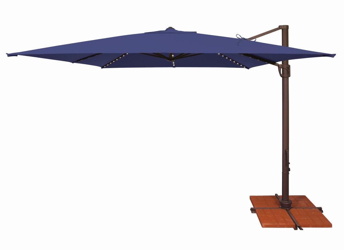 Simplyshade Ssad45Sl 10Sq00 D Bali Pro 10 Foot Wide Open Solefin Intended For Recent Muhammad Fullerton Cantilever Umbrellas (View 9 of 20)