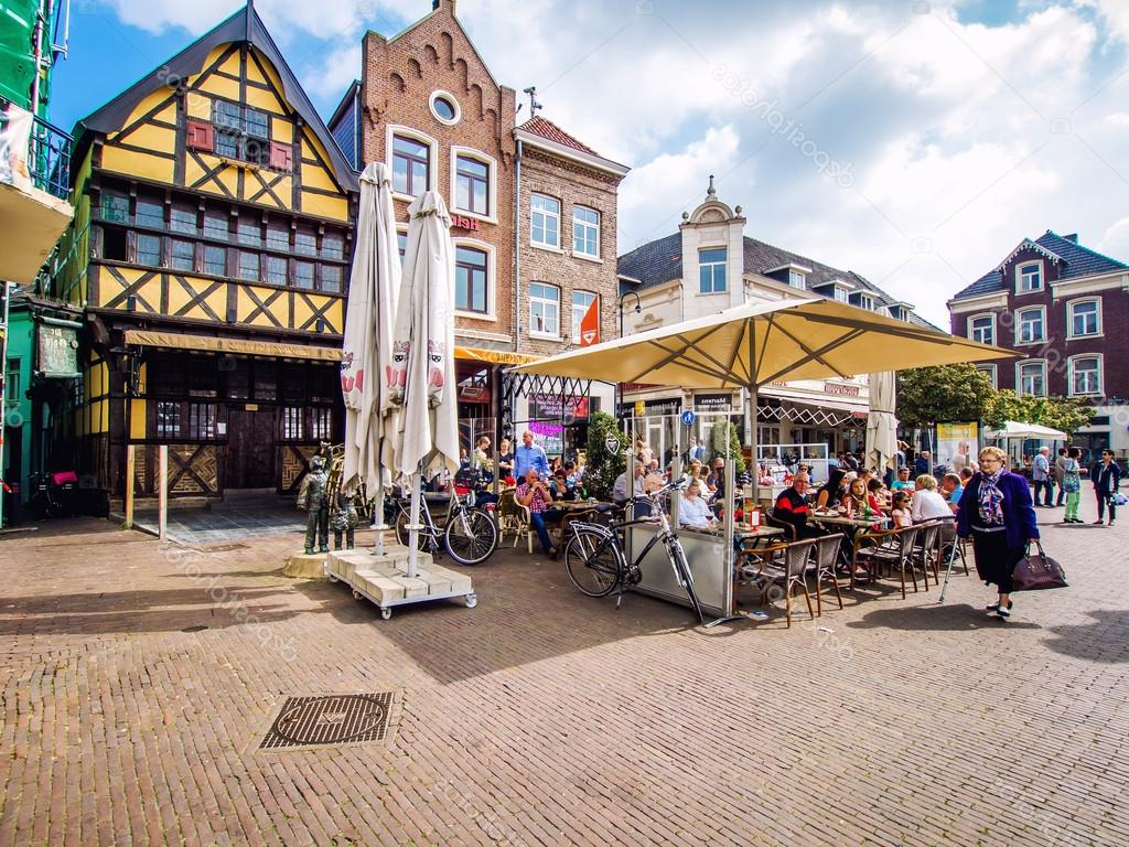 Sittard Market Umbrellas For Recent Day View Of Market Square Of Sittard — Stock Photo © Amoklv # (View 10 of 20)