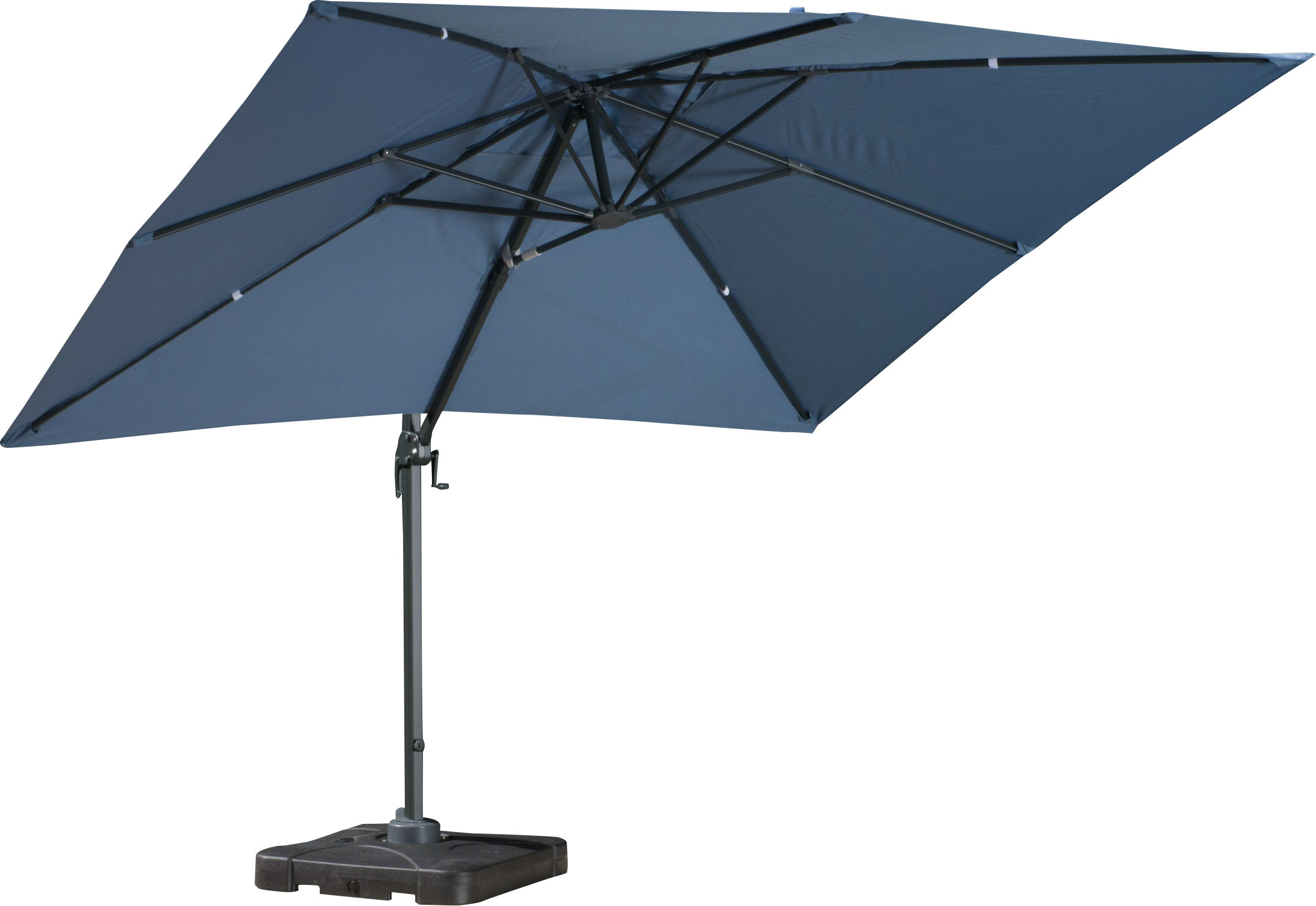 Sol 72 Outdoor Boracay 10' Square Cantilever Umbrella Regarding Well Known Krystal Square Cantilever Sunbrella Umbrellas (View 14 of 20)