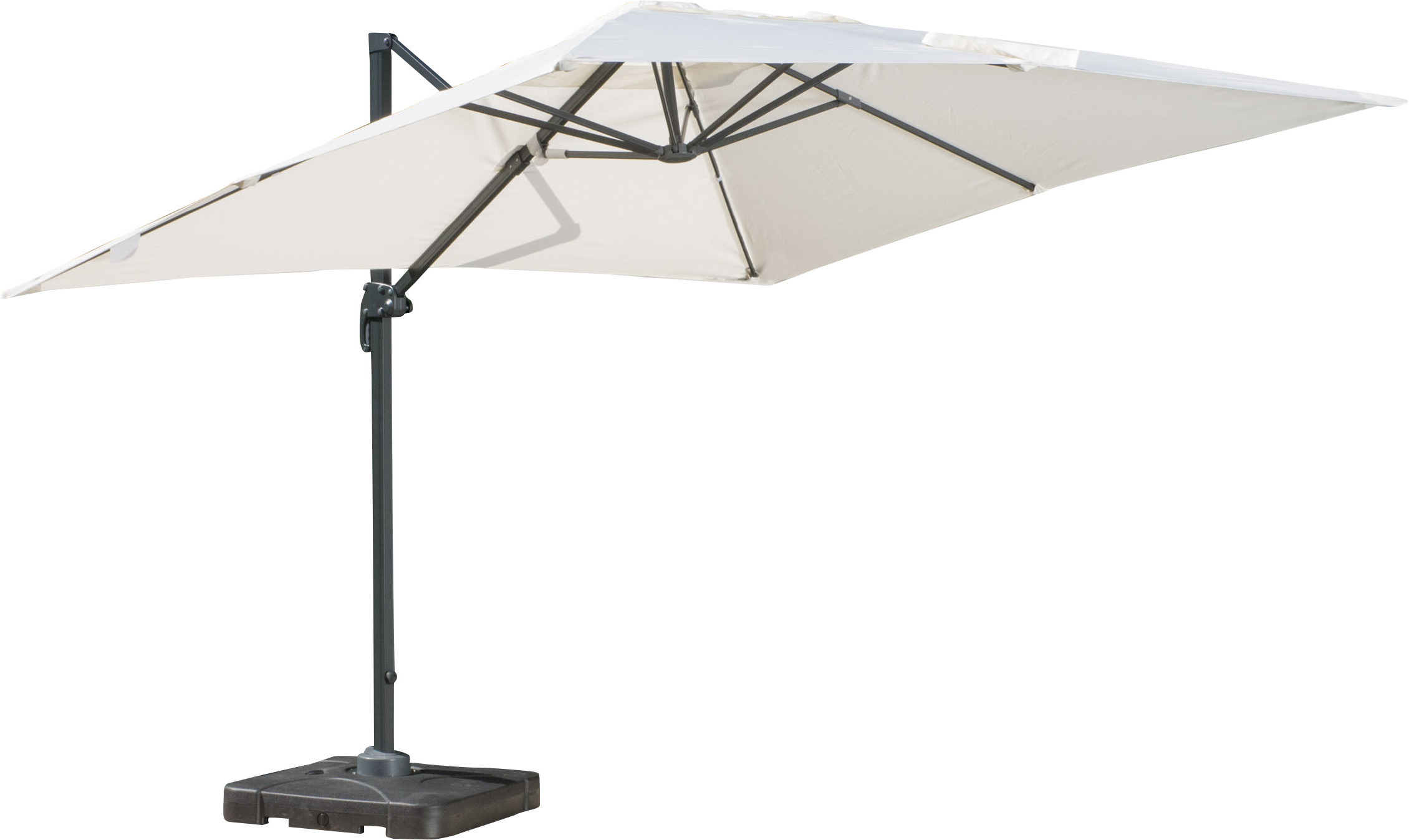 Sol 72 Outdoor Boracay 10' Square Cantilever Umbrella Throughout Latest Krystal Square Cantilever Sunbrella Umbrellas (View 2 of 20)
