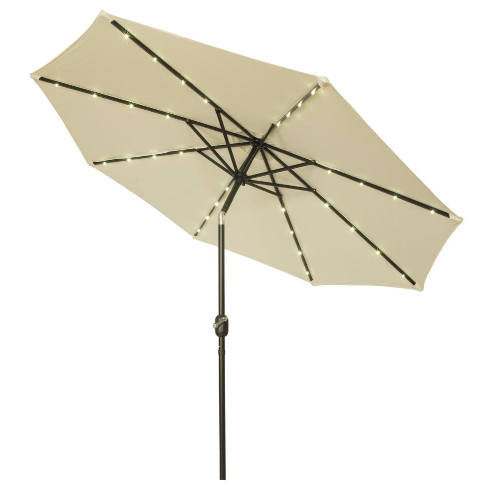 Solar Powered Led Patio Umbrellas Throughout Recent Trademark Innovations 9 Ft (View 18 of 20)