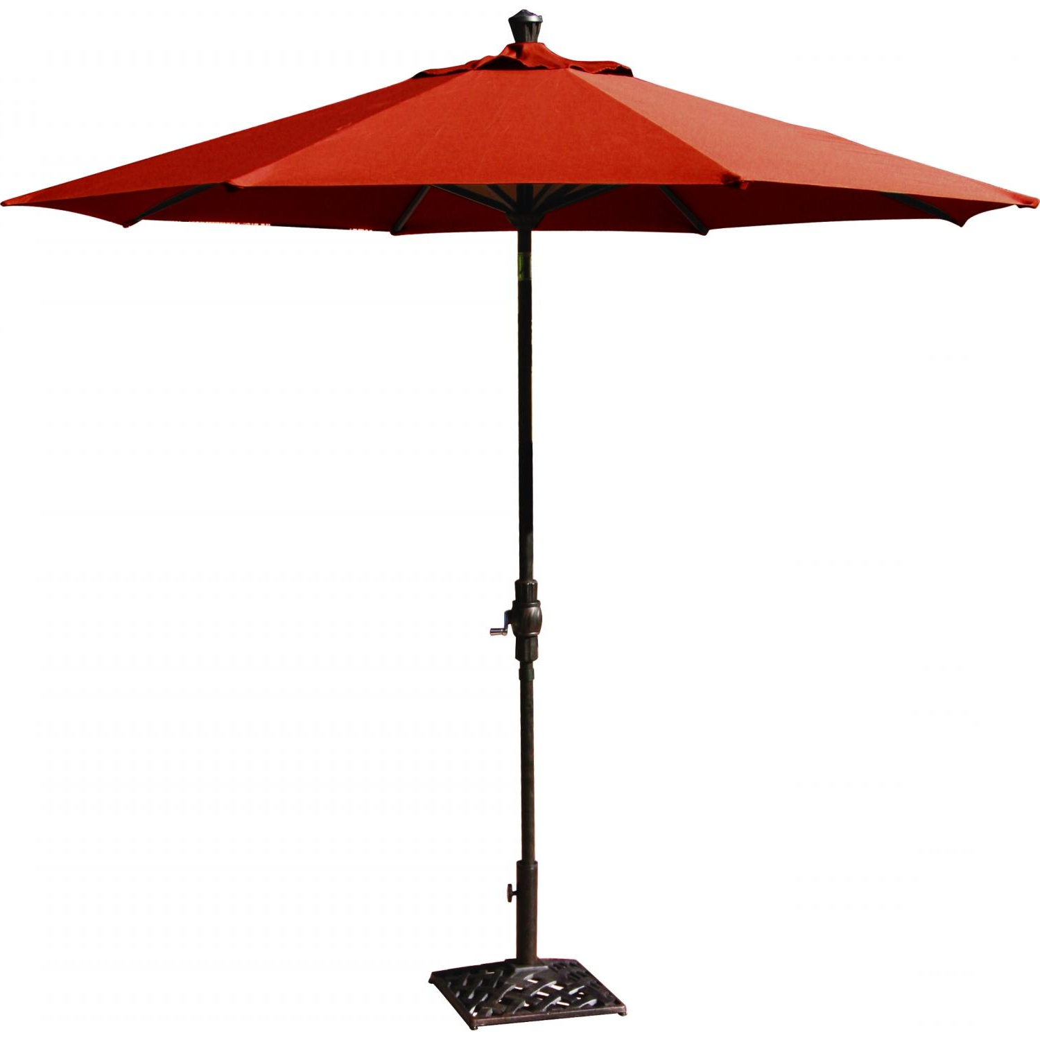 Solid Market Umbrellas Throughout Widely Used Market Umbrella Aluminum Frame 9' Autotilt Sunbrella Standard Solid (More  Colors) (View 17 of 20)