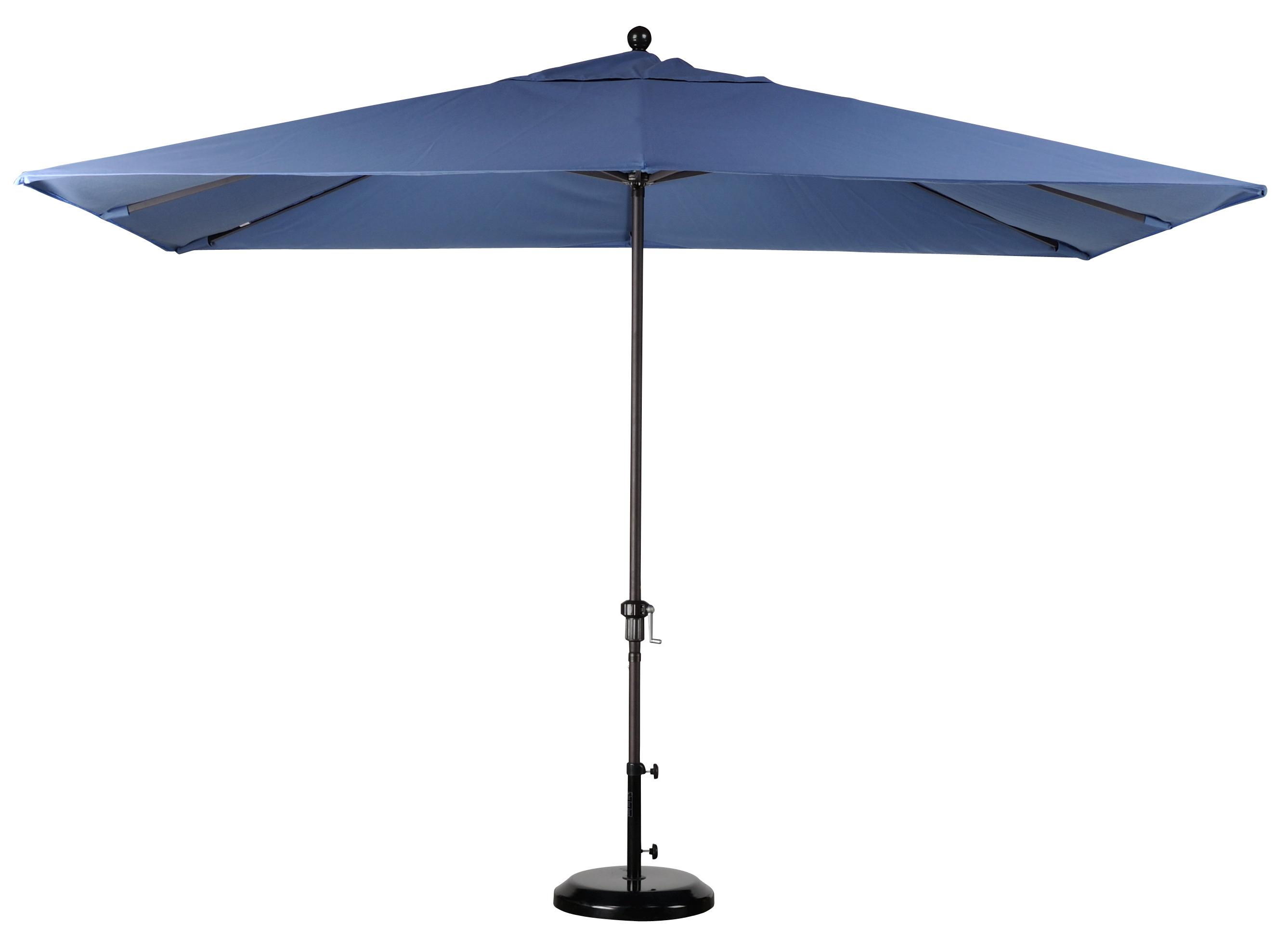 Solid Rectangular Market Umbrellas Intended For Popular Best Selection Rectangular Market Umbrellas – Featuring Sunbrella (View 12 of 20)