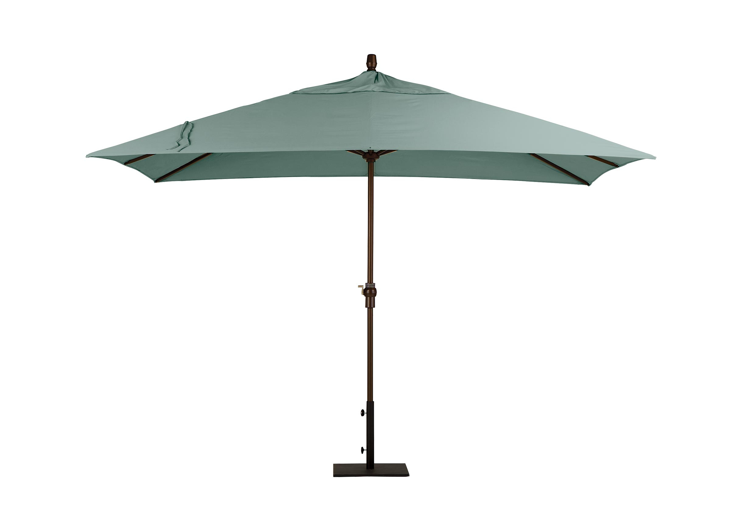 Spa Blue Rectangular Market Umbrella (View 17 of 20)