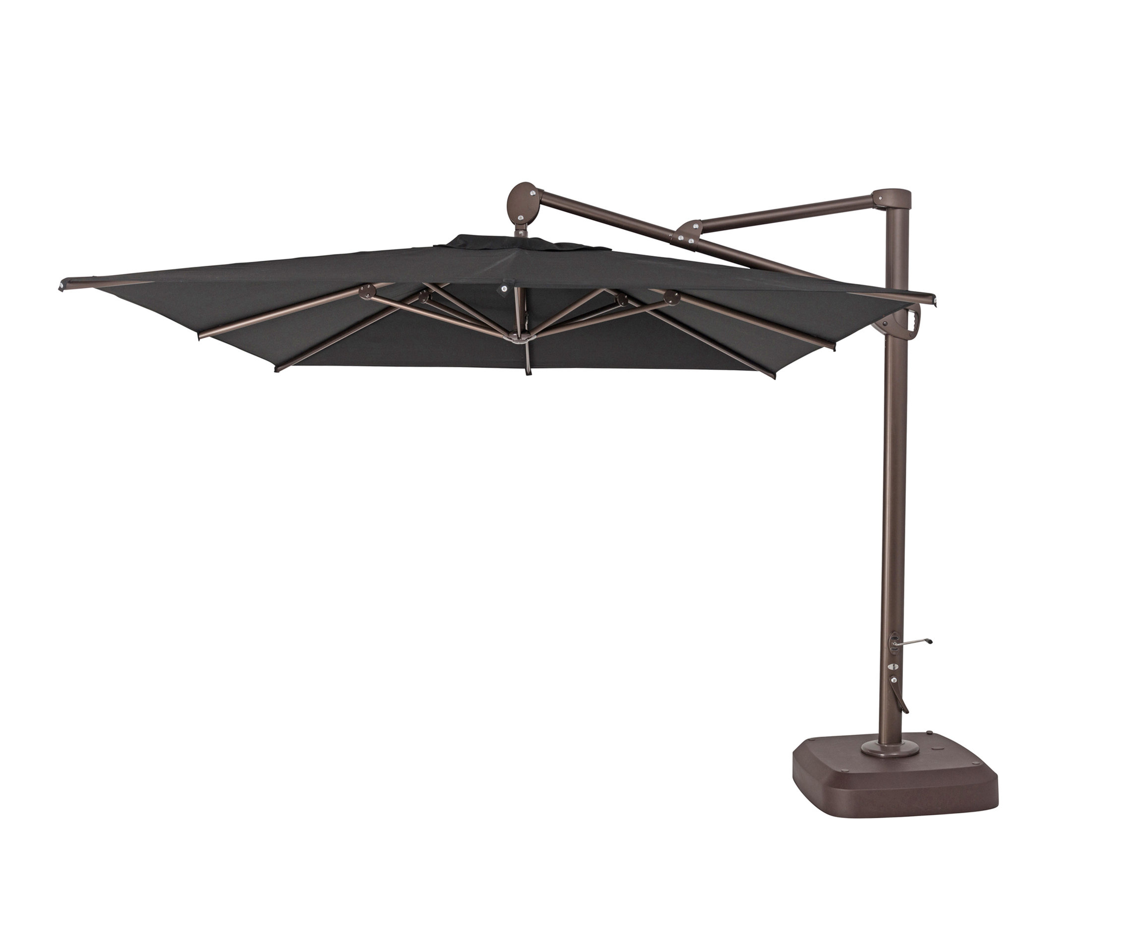 Spitler Square Cantilever Umbrellas For Fashionable 10' Square Cantilever Umbrella (View 9 of 20)