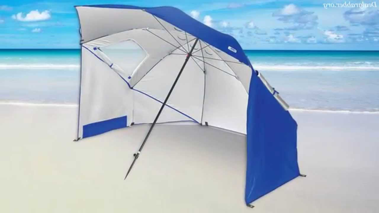 Sport Brella Umbrella – Beach Umbrella Tent With Regard To 2020 Sun Shelter Beach Umbrellas (View 11 of 20)