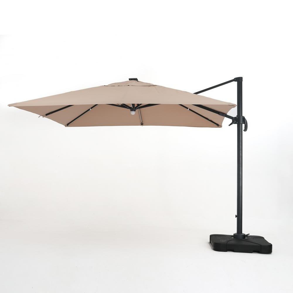 Sun Ray Solar Cantilever Umbrellas Pertaining To Newest Noble House Savanna 9.8 Ft (View 16 of 20)