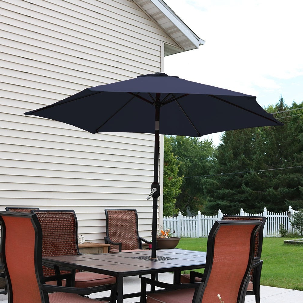 Sunnydaze Patio Market Umbrella W/ Tilt & Crank (View 15 of 20)
