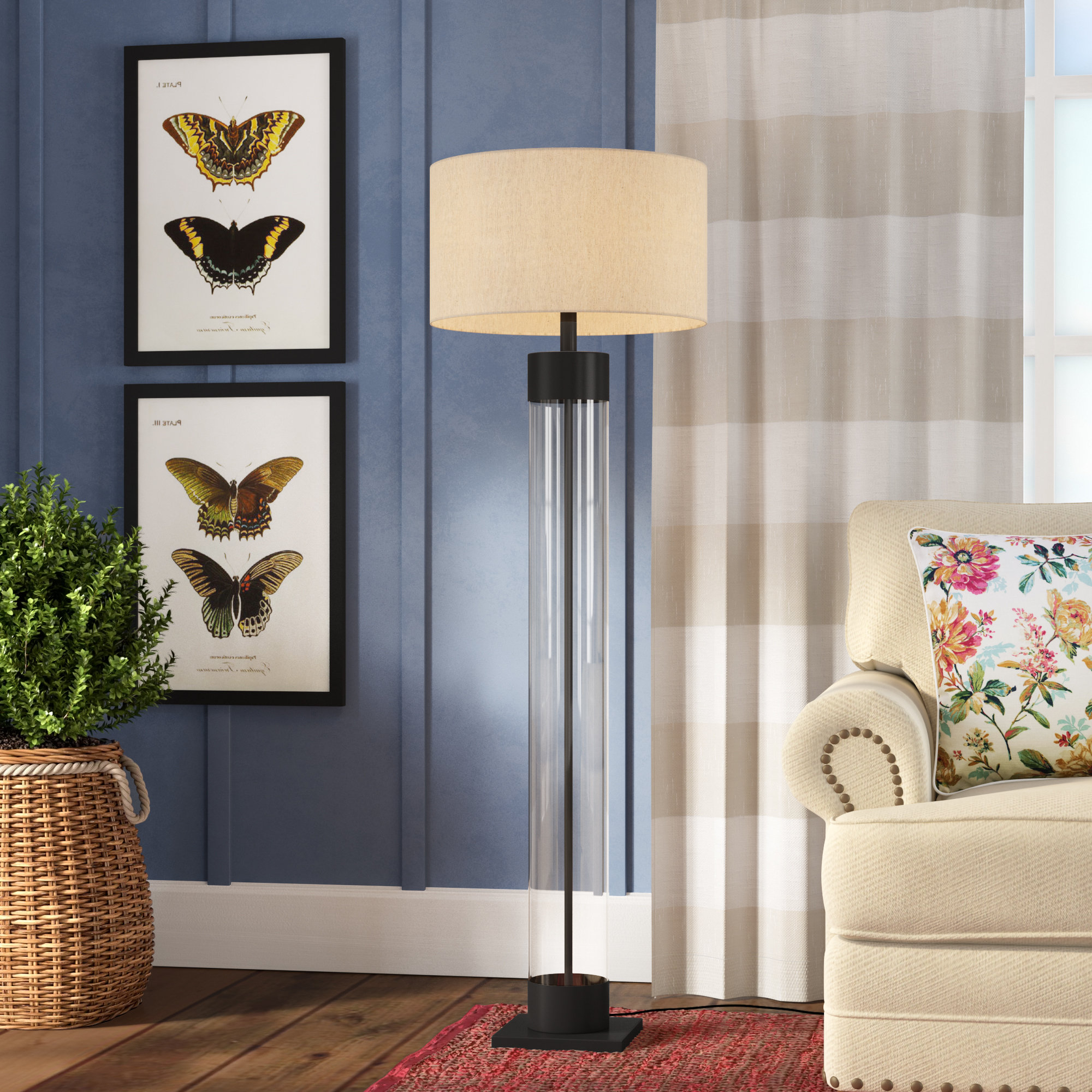 """Suzan 64"""" Floor Lamp With Most Recent Bricelyn Market Umbrellas (View 19 of 20)"""