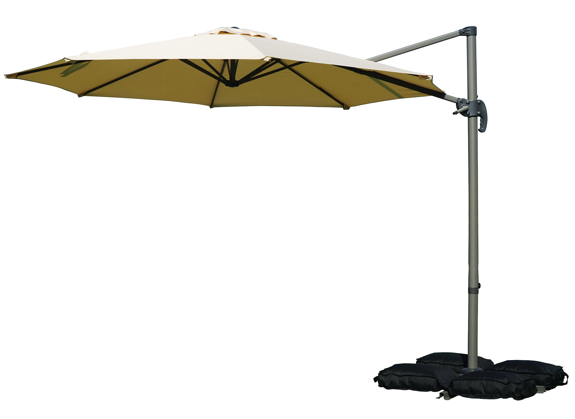 Tallulah Sunshade Hanging Outdoor Cantilever Umbrellas Intended For Famous Tottenham Patio Hanging Offset 10' Cantilever Umbrella (View 15 of 20)