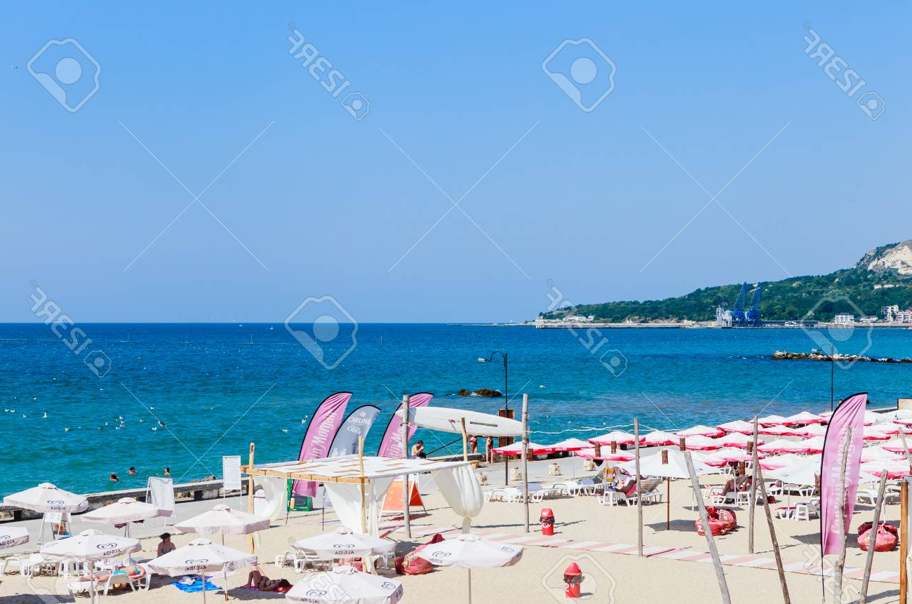 The Balchik Seaside, Beach With Sands, Sun Umbrellas And Blue. (View 19 of 20)