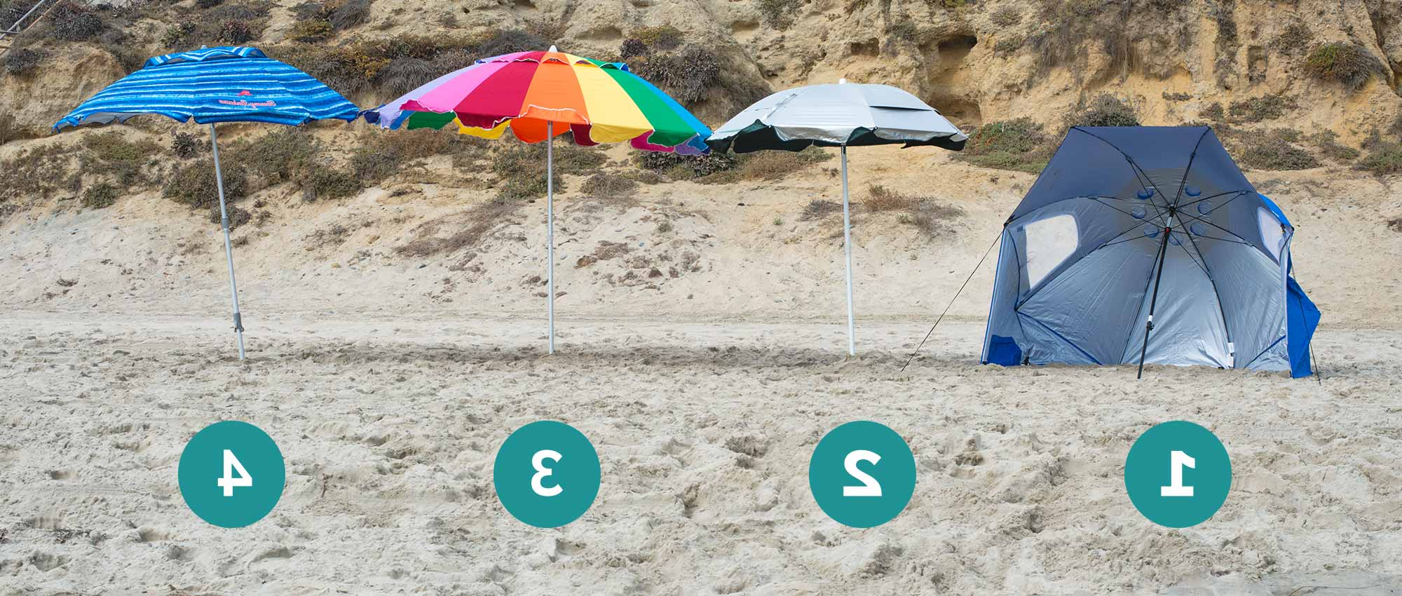 The Best Beach Umbrellas, Chairs & Tents Of 2019 – Your Best Digs For Widely Used Total Sun Block Extreme Shade Beach Umbrellas (View 17 of 20)