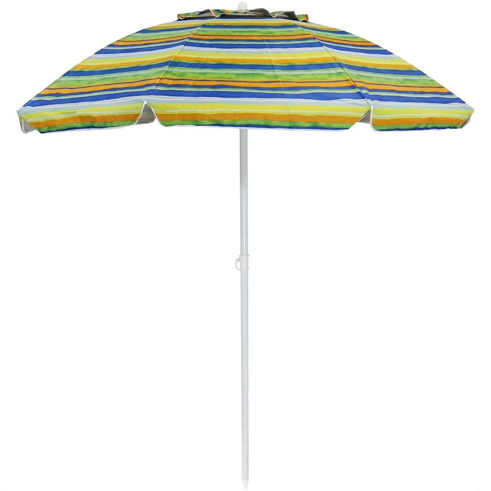 Tilt Beach Umbrellas With 2019 Sunnydaze Decor 6 Ft (View 17 of 20)