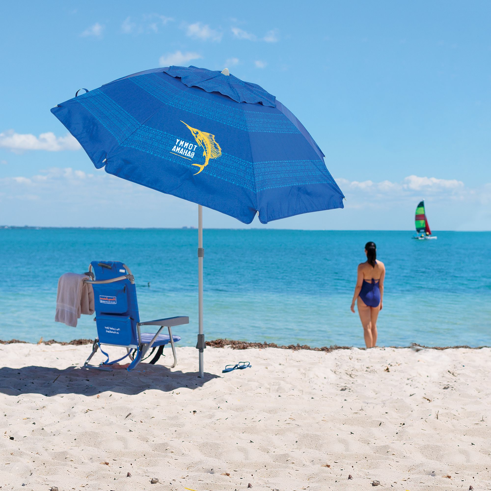 Tommy Bahama Beach Umbrella Inside Well Known Total Sun Block Extreme Shade Beach Umbrellas (View 9 of 20)