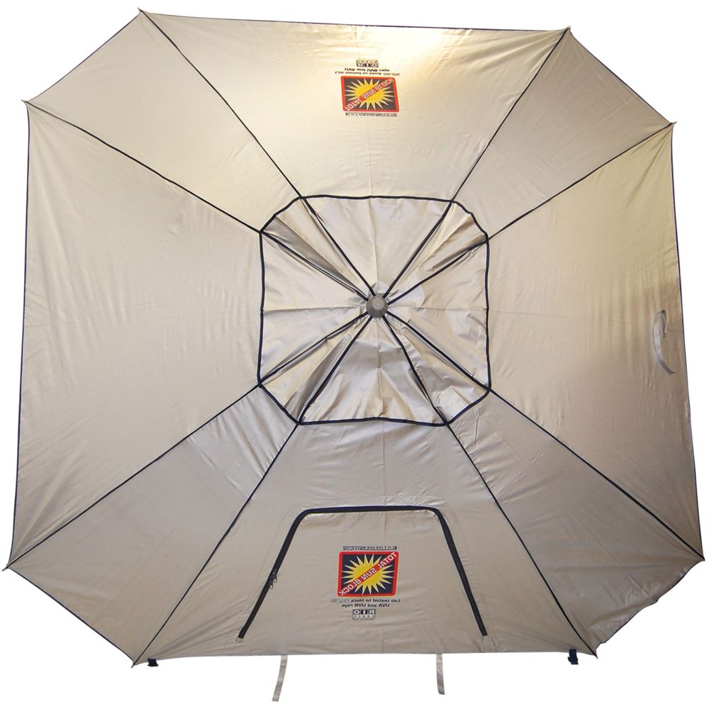 Total Sun Block Extreme Shade Beach Umbrellas Intended For Latest 9 Ft (View 5 of 20)