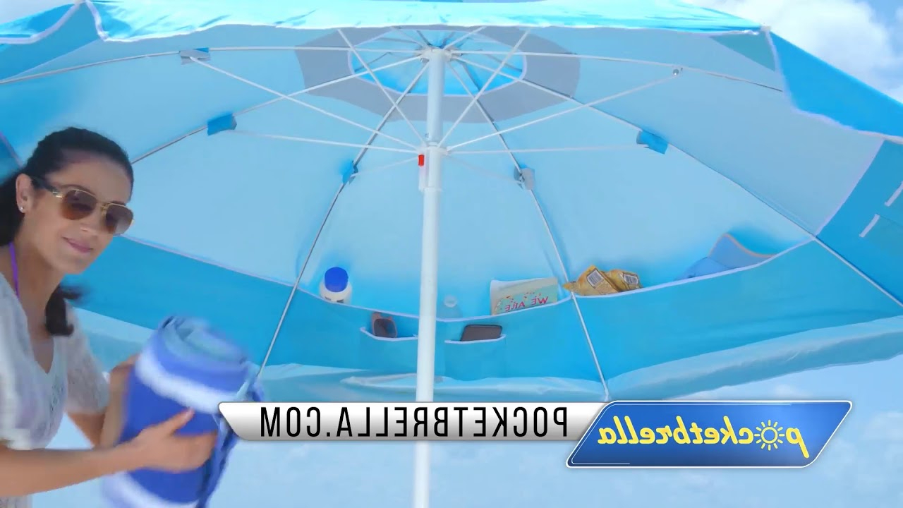 Total Sun Block Extreme Shade Beach Umbrellas With Regard To Well Liked Rio Sol Cabana Sun Shelter – Blue (View 15 of 20)