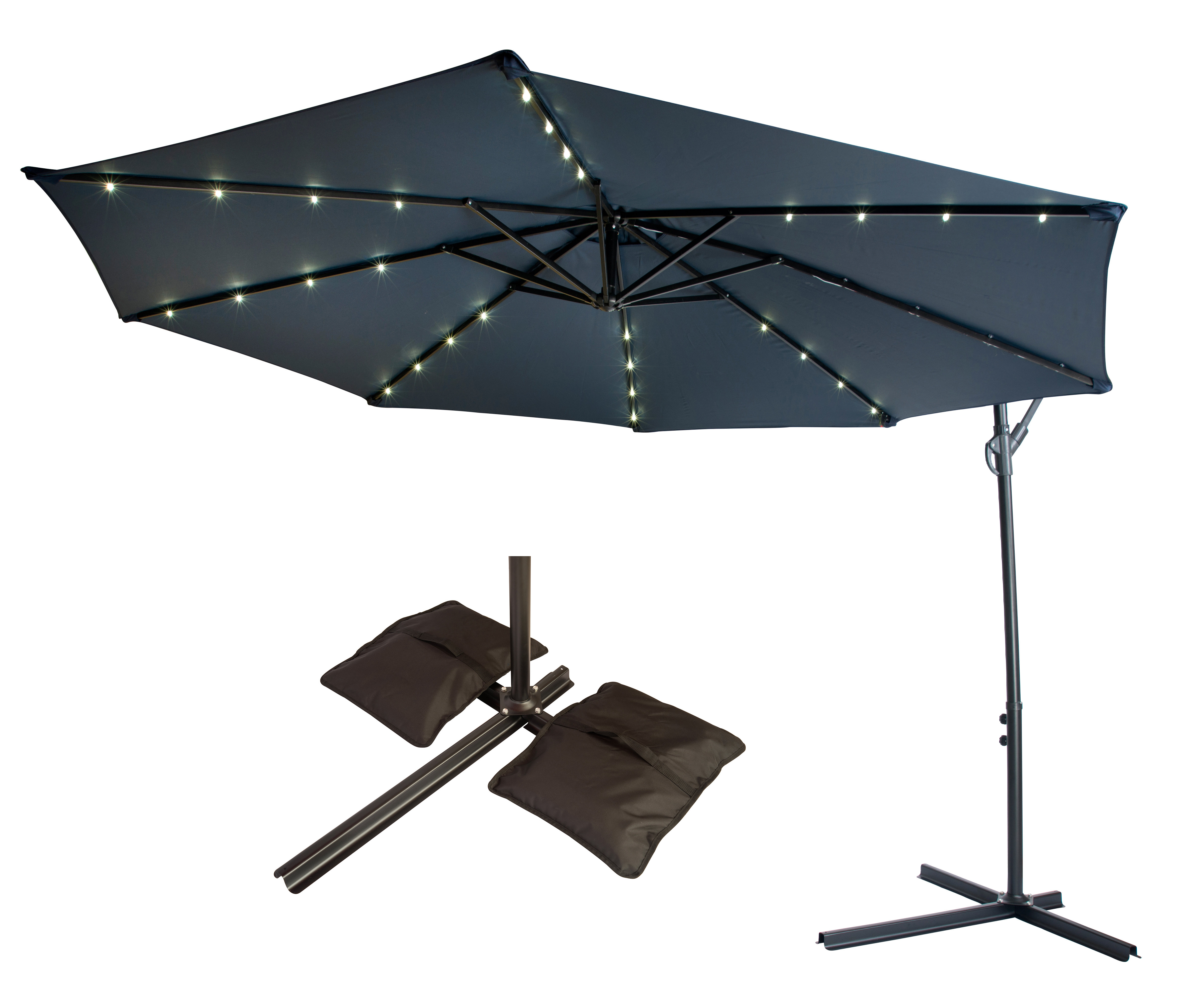 Trendy 10' Cantilever Umbrella With Jaelynn Cantilever Umbrellas (View 14 of 20)