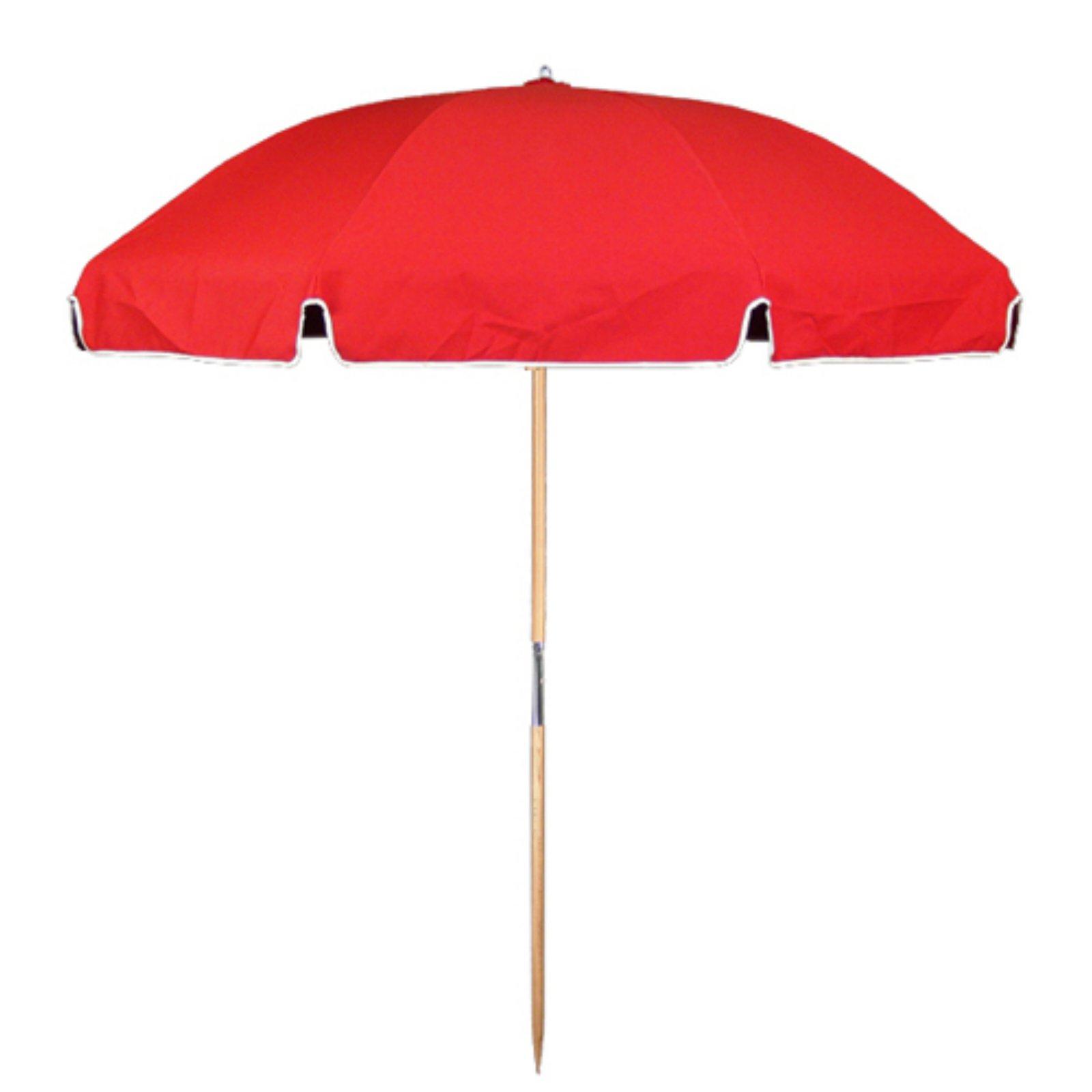 Trendy 5' Steel Beach Tilt Umbrella – Red – Sunnydaze Decor (View 6 of 20)