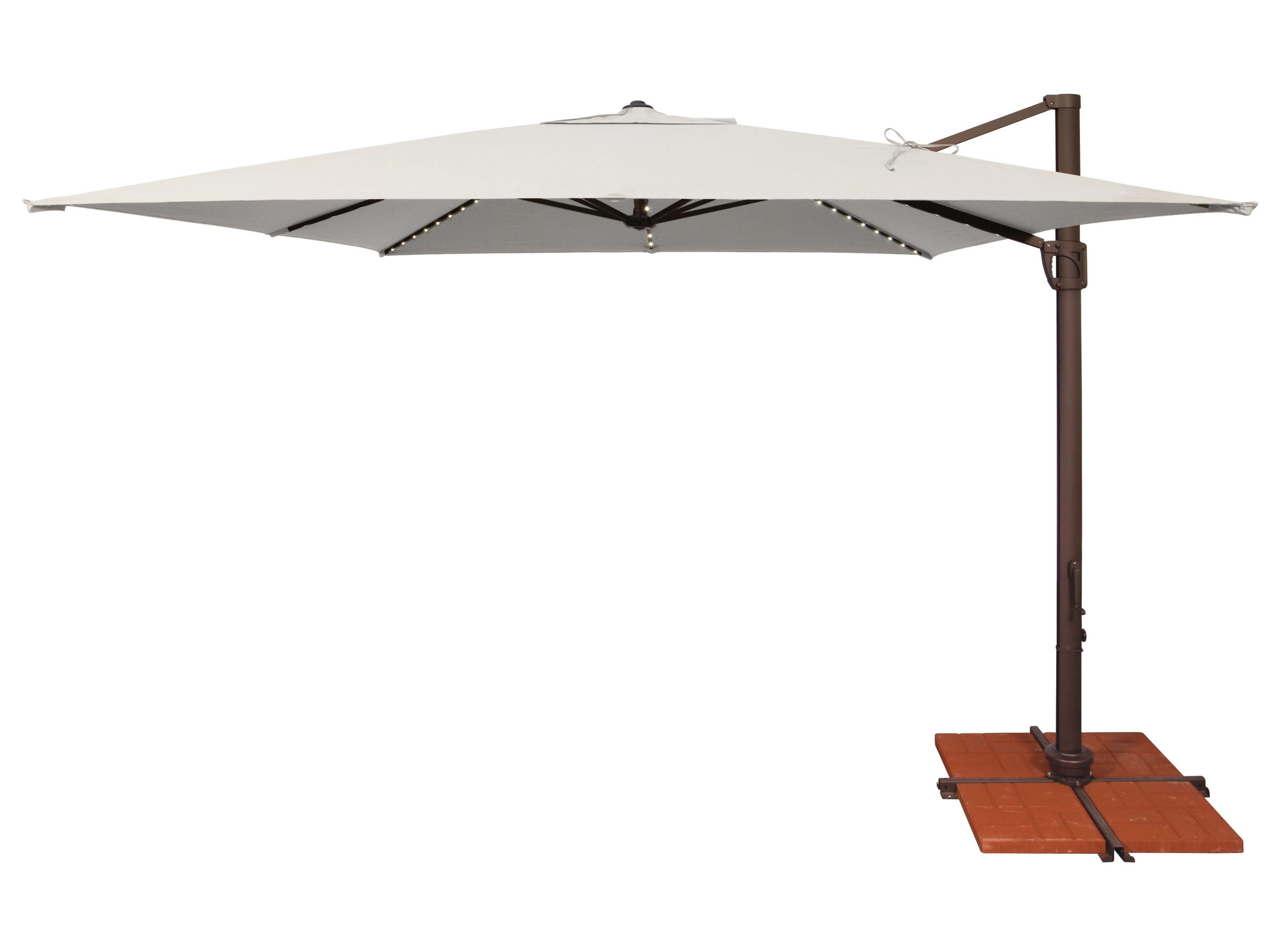 Trendy Carlisle Square Cantilever Sunbrella Umbrellas With Regard To Windell 10' Square Cantilever Umbrella (View 20 of 20)