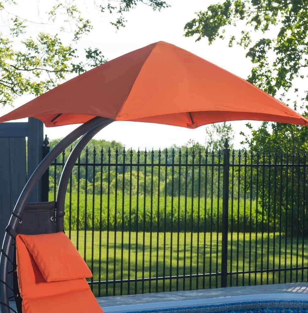 Trendy Ebern Designs Maglione Fabric 4' Cantilever Umbrella For Maglione Fabric 4cantilever Umbrellas (View 2 of 20)