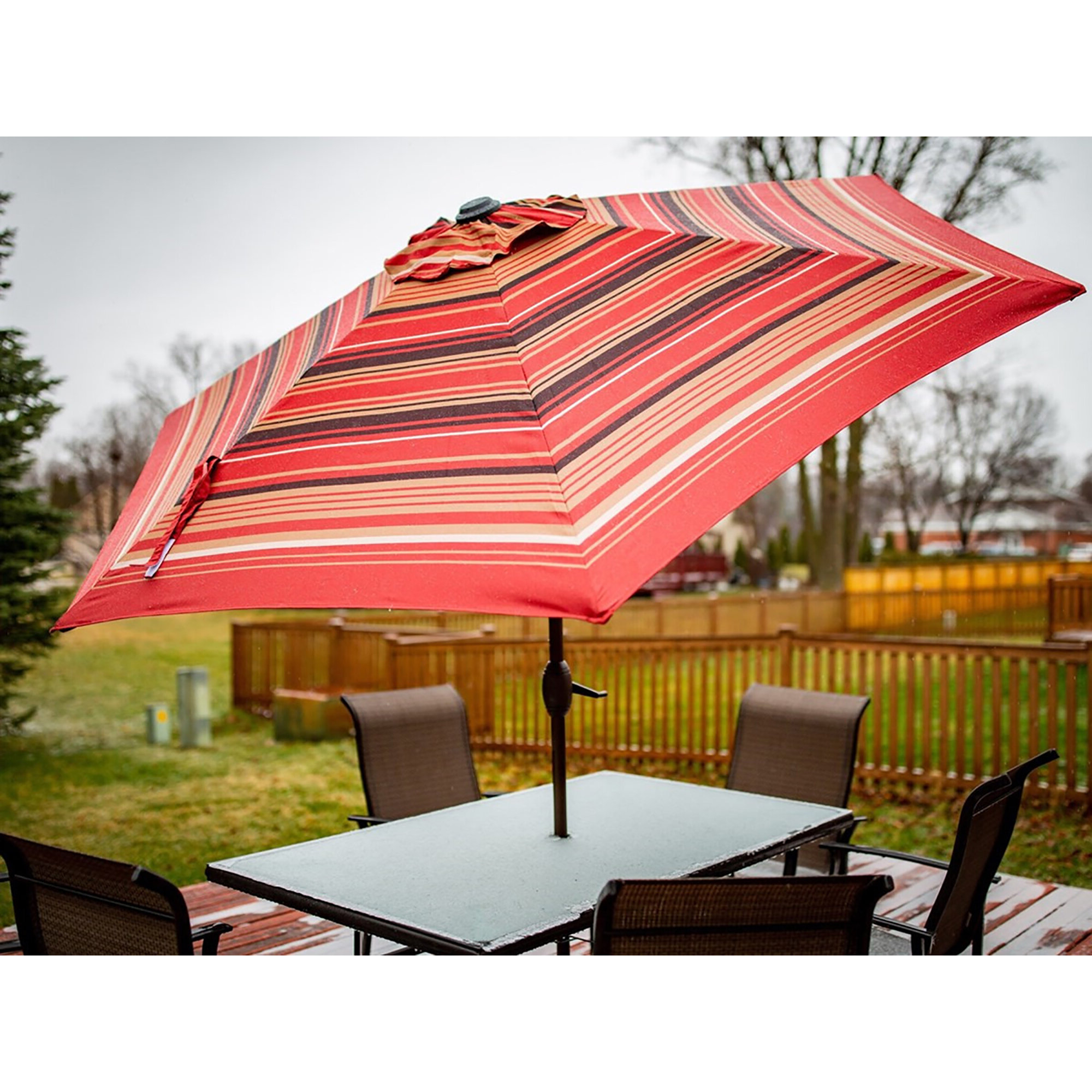 Trendy Filey 8' Market Umbrella For Darwen Tiltable Patio Stripe Market Umbrellas (View 17 of 20)