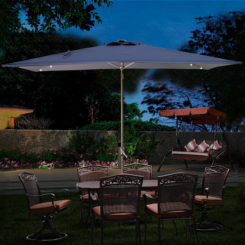 Trendy Lonoke Patio Rectangular Market Umbrellas With Thibodeau 10' X (View 3 of 20)