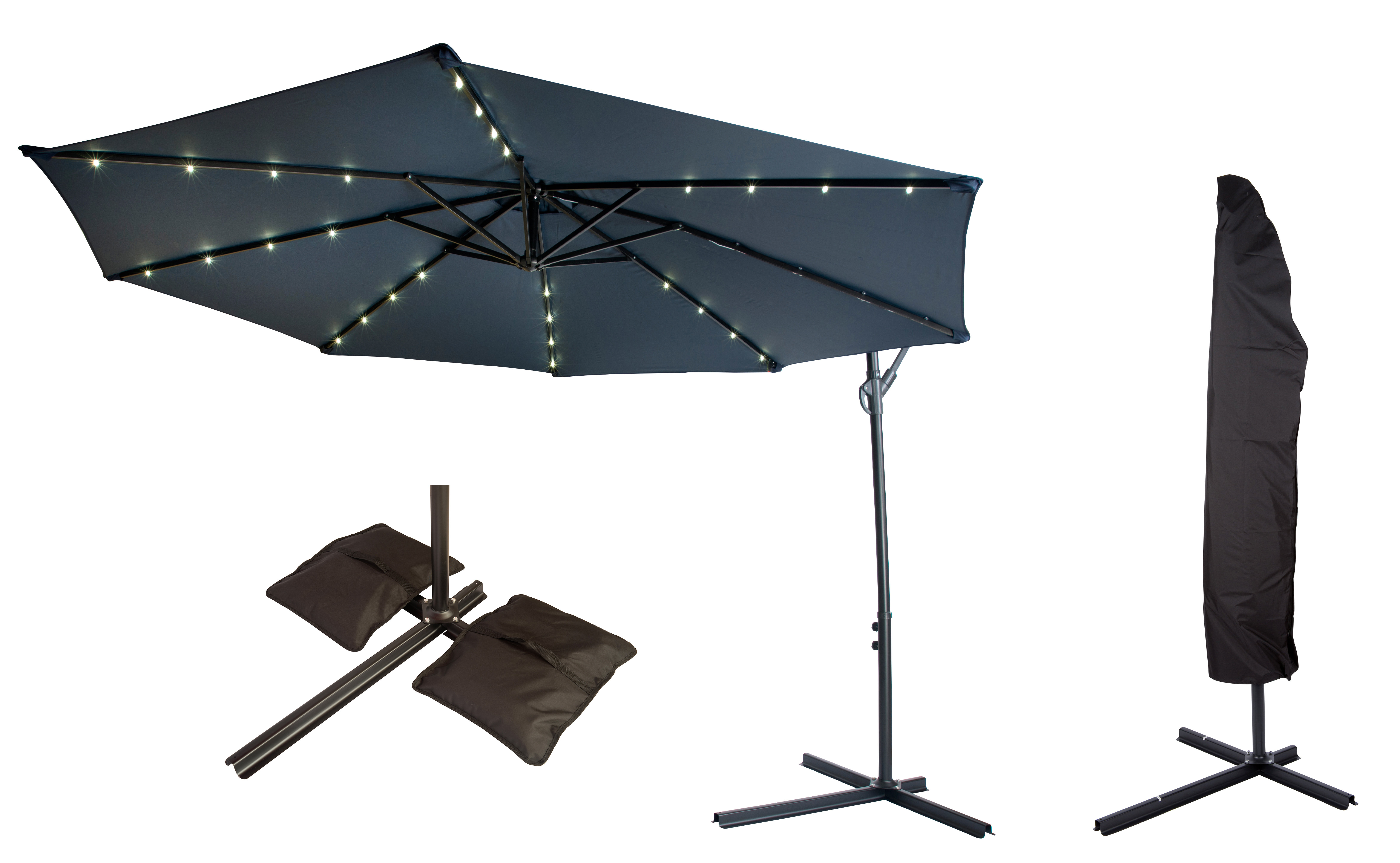 Trendy Offset Patio 10' Cantilever Umbrella With Regard To Dore Patio Cantilever Umbrellas (View 19 of 20)